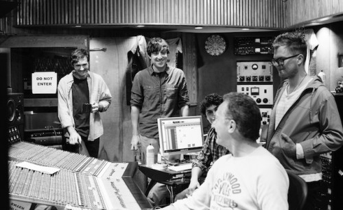 Grizzly Bear in studio