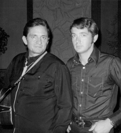 Chance Martin and Johnny Cash