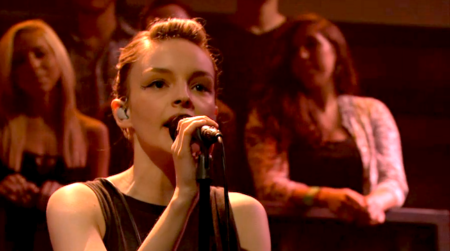 Chvrches on Late Night with Jimmy Fallon