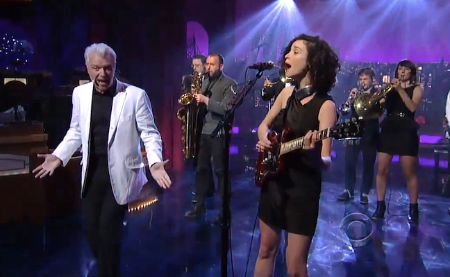 David Byrne and St. Vincent Letterman